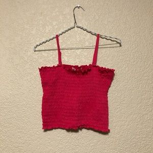 Pink Smocked Tube Top